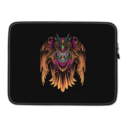 Cyborg Owl Laptop Sleeve Designed By Koopshawneen