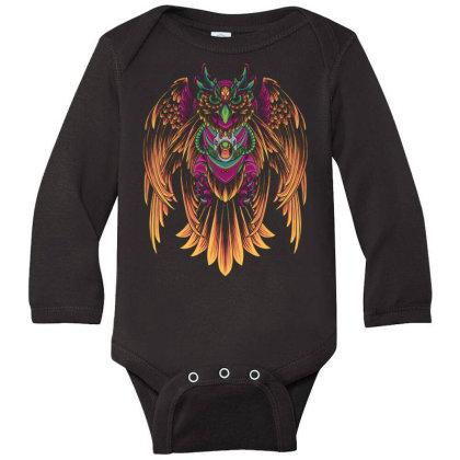 Cyborg Owl Long Sleeve Baby Bodysuit Designed By Koopshawneen