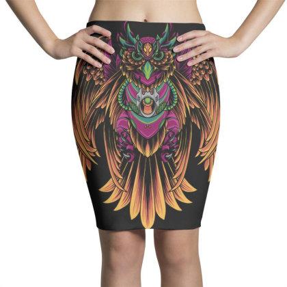 Cyborg Owl Pencil Skirts Designed By Koopshawneen