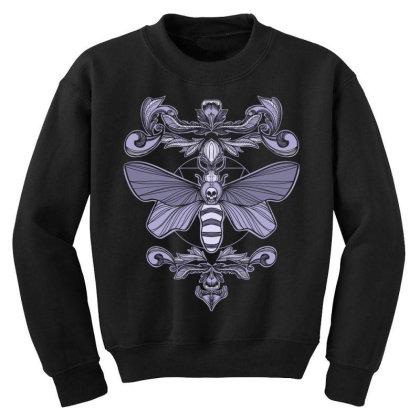 Death Moth Youth Sweatshirt Designed By Koopshawneen