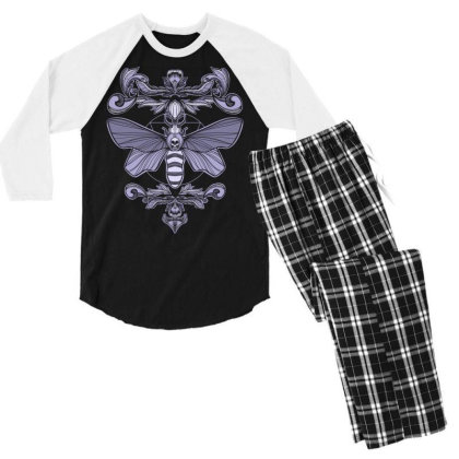 Death Moth Men's 3/4 Sleeve Pajama Set Designed By Koopshawneen