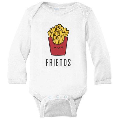 Fried Potatoes Fast Food Long Sleeve Baby Bodysuit Designed By Coşkun