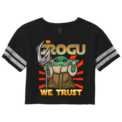 Grogu Trust The Kid Scorecard Crop Tee Designed By Koopshawneen