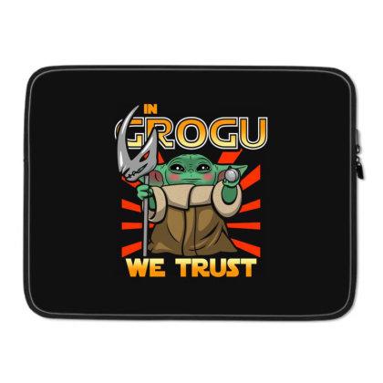 Grogu Trust The Kid Laptop Sleeve Designed By Koopshawneen