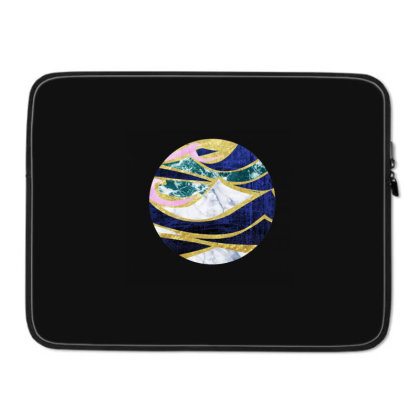 Golden Wave Laptop Sleeve Designed By Akin