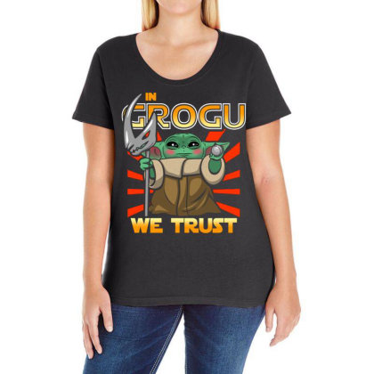 Grogu Trust The Kid Ladies Curvy T-shirt Designed By Koopshawneen