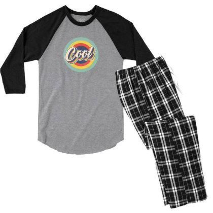 Retro Cool Men's 3/4 Sleeve Pajama Set Designed By Akin