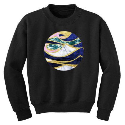 Golden Wave Youth Sweatshirt Designed By Akin