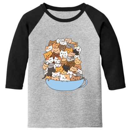 Cute Cats Youth 3/4 Sleeve Designed By Coşkun