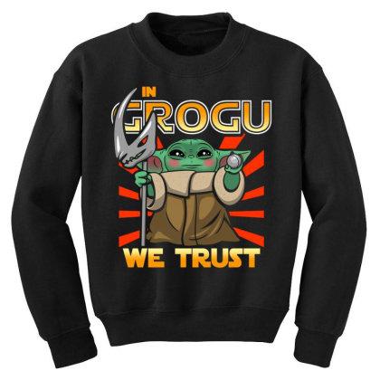 Grogu Trust The Kid Youth Sweatshirt Designed By Koopshawneen