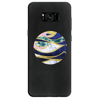 Golden Wave Samsung Galaxy S8 Case Designed By Akin