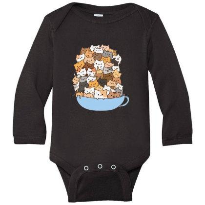 Cute Cats Long Sleeve Baby Bodysuit Designed By Coşkun