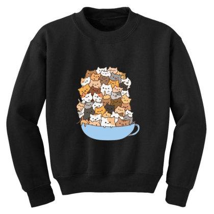 Cute Cats Youth Sweatshirt Designed By Coşkun