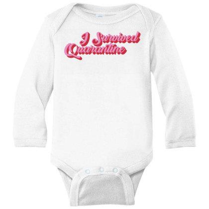 I Survived Quarantine Long Sleeve Baby Bodysuit Designed By Akin