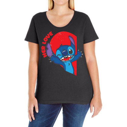 Her Stich Ladies Curvy T-shirt Designed By Koopshawneen