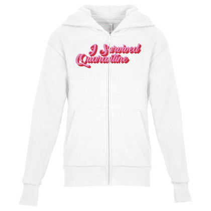 I Survived Quarantine Youth Zipper Hoodie Designed By Akin