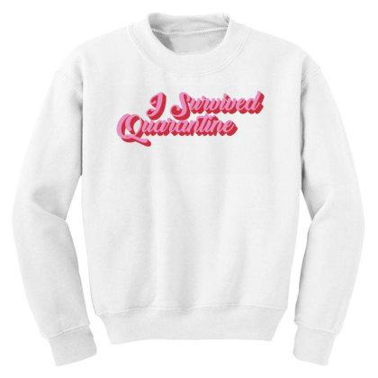 I Survived Quarantine Youth Sweatshirt Designed By Akin