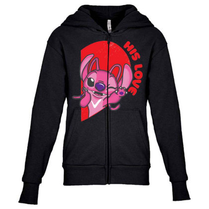His Angle Youth Zipper Hoodie Designed By Koopshawneen