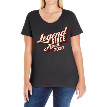 Legend Since April 2020 Ladies Curvy T-shirt Designed By Akin