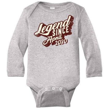 Legend Since April 2020 Long Sleeve Baby Bodysuit Designed By Akin