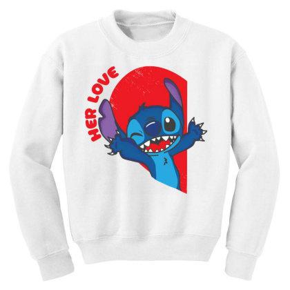 Her Stich Youth Sweatshirt Designed By Koopshawneen