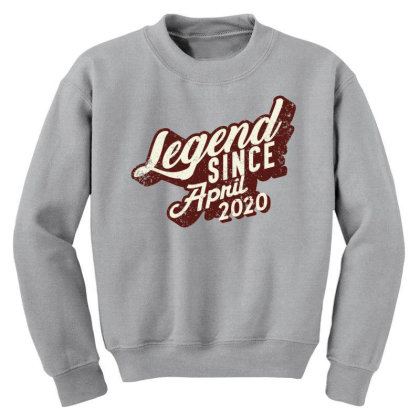Legend Since April 2020 Youth Sweatshirt Designed By Akin
