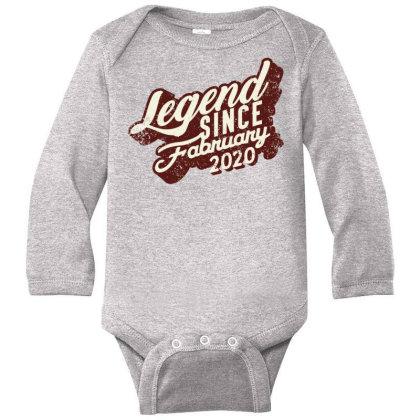 Legend Since February 2020 Long Sleeve Baby Bodysuit Designed By Akin