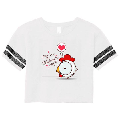 Valentine's Day Scorecard Crop Tee Designed By Coşkun