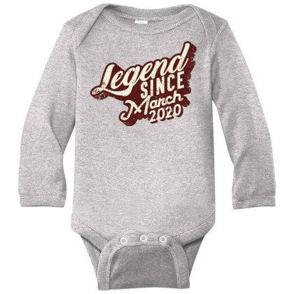 Legend Since March 2020 Long Sleeve Baby Bodysuit Designed By Akin