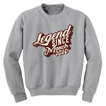Legend Since March 2020 Youth Sweatshirt Designed By Akin