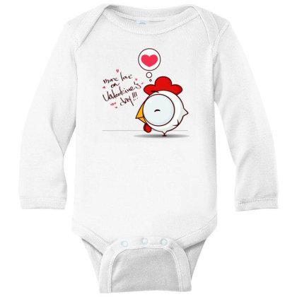 Valentine's Day Long Sleeve Baby Bodysuit Designed By Coşkun
