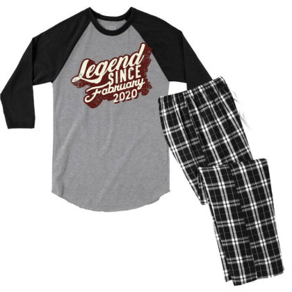 Legend Since February 2020 Men's 3/4 Sleeve Pajama Set Designed By Akin