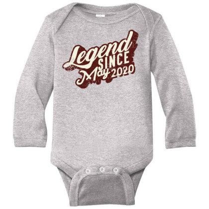 Legend Since May 2020 Long Sleeve Baby Bodysuit Designed By Akin