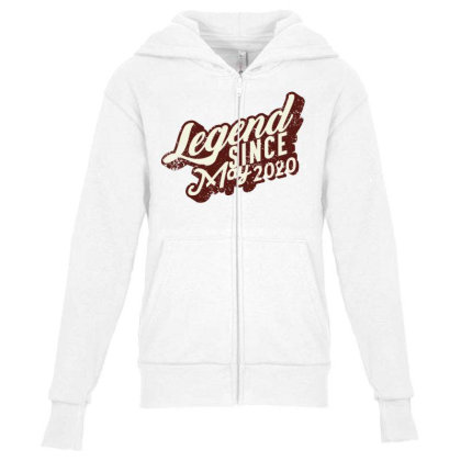 Legend Since May 2020 Youth Zipper Hoodie Designed By Akin