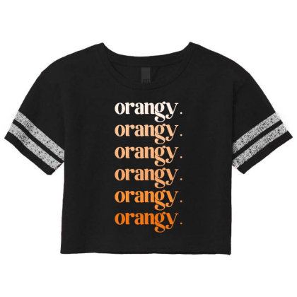 Orangy Scorecard Crop Tee Designed By Akin