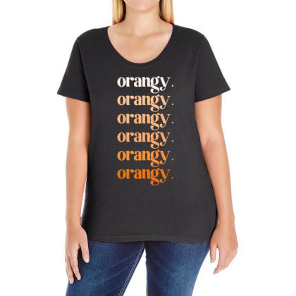 Orangy Ladies Curvy T-shirt Designed By Akin