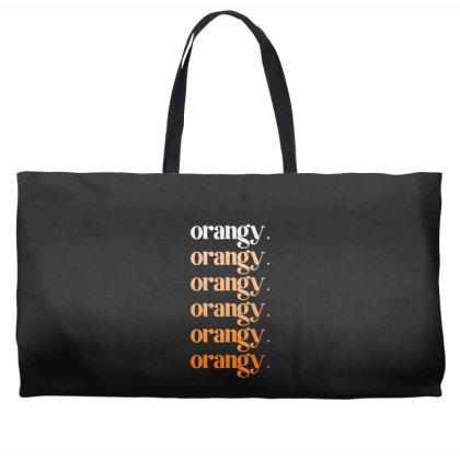 Orangy Weekender Totes Designed By Akin