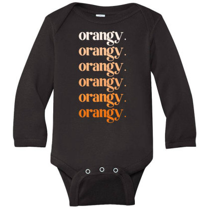 Orangy Long Sleeve Baby Bodysuit Designed By Akin