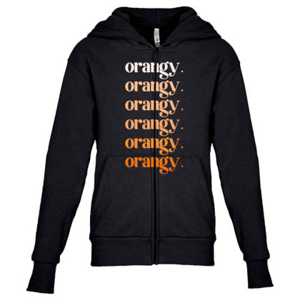 Orangy Youth Zipper Hoodie Designed By Akin