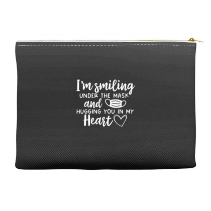 I'm Smiling Under The Mask And Hugging You In My Heart 1 Accessory Pouches Designed By Koopshawneen