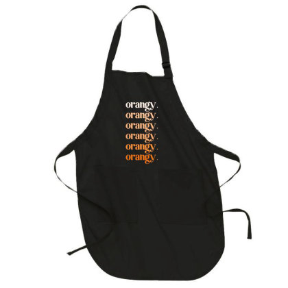 Orangy Full-length Apron Designed By Akin