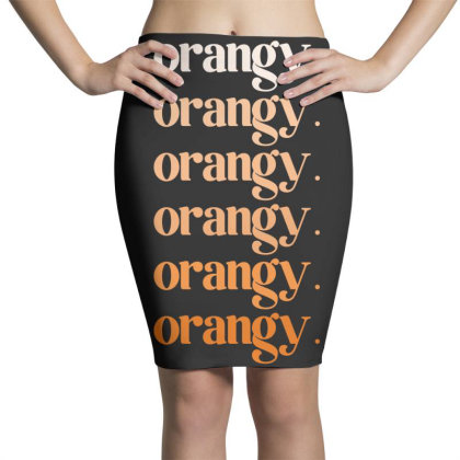 Orangy Pencil Skirts Designed By Akin