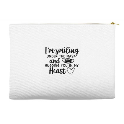 I'm Smiling Under The Mask And Hugging You In My Heart 2 Accessory Pouches Designed By Koopshawneen