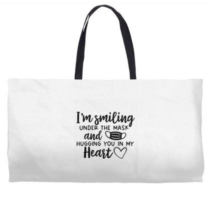 I'm Smiling Under The Mask And Hugging You In My Heart 2 Weekender Totes Designed By Koopshawneen