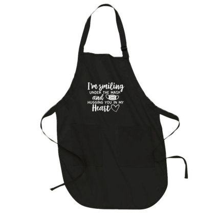I'm Smiling Under The Mask And Hugging You In My Heart 1 Full-length Apron Designed By Koopshawneen