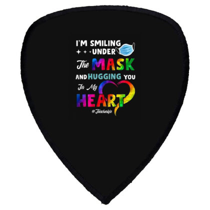 I'm Smiling Under The Mask And Hugging You In My Heart Shield S Patch Designed By Koopshawneen