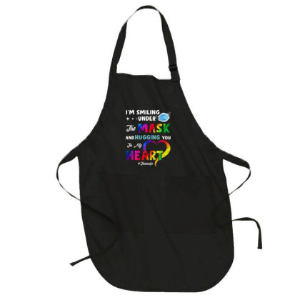 I'm Smiling Under The Mask And Hugging You In My Heart Full-length Apron Designed By Koopshawneen