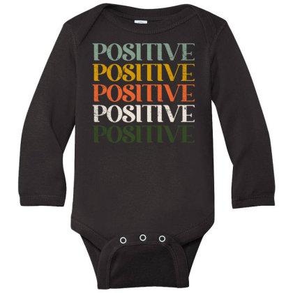 Positive Long Sleeve Baby Bodysuit Designed By Akin