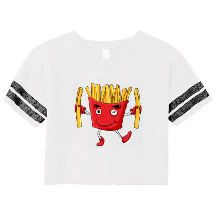 Fried Potatoes, Fast Food Scorecard Crop Tee Designed By Coşkun