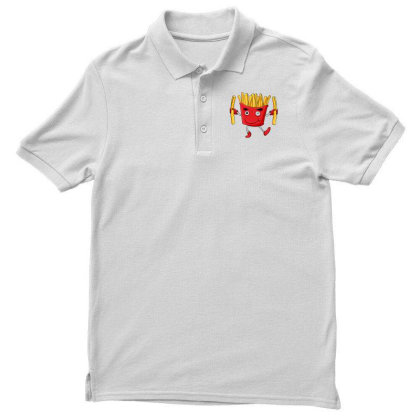 Fried Potatoes, Fast Food Men's Polo Shirt Designed By Coşkun